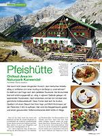 Pfeishütte Chillout-Area im Naturpark Karwendel